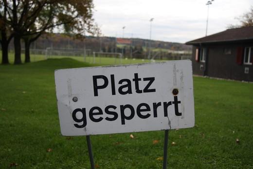 Fussballplatz gesperrt